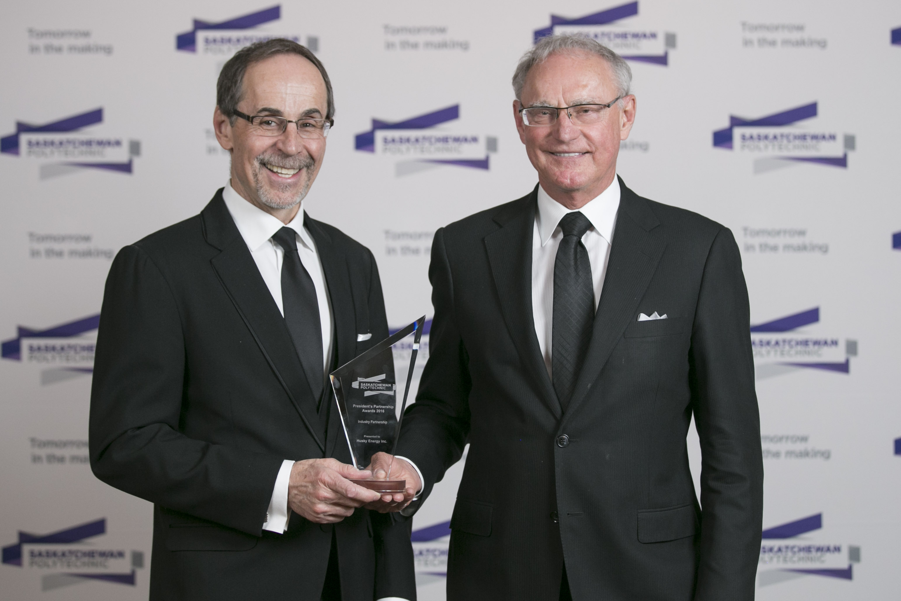 Receiving the award on behalf of Husky Energy Ed Connolly, Senior Vice President, Heavy Oil